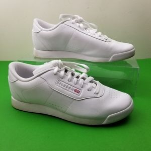 REEBOK Classics White Lace Up Sneakers Shoes Women
